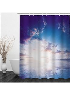 Beautiful Clouds in Sky 3D Printed Bathroom Waterproof Shower Curtain