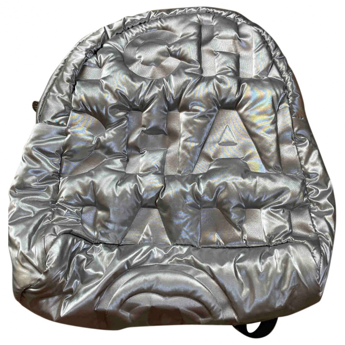 Chanel \N Silver Cloth backpack for Women \N