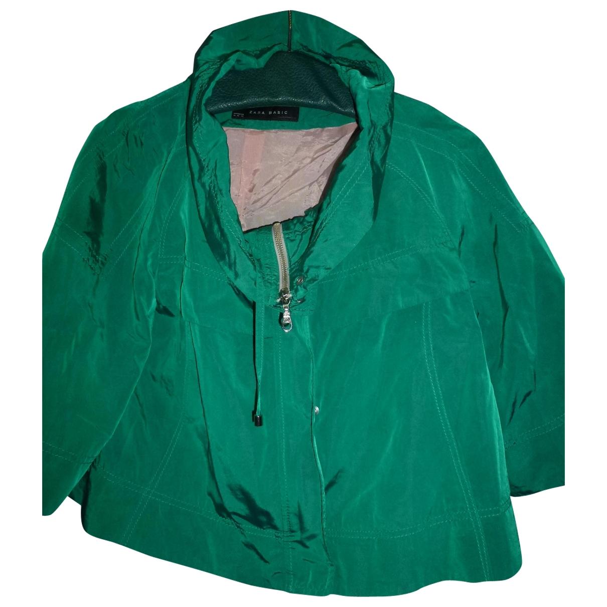 Zara \N Green Leather jacket for Women XL International