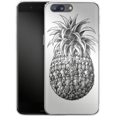 OnePlus 5 Silikon Handyhuelle - Ornate Pineapple von BIOWORKZ