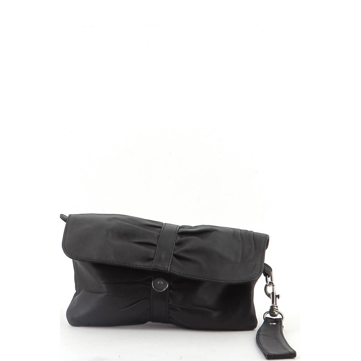 Petite Mendigote \N Black Leather Clutch bag for Women \N