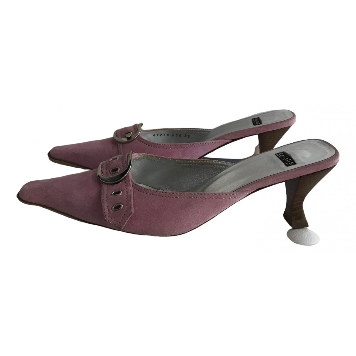 Casadei \N Pink Suede Sandals for Women 36 IT