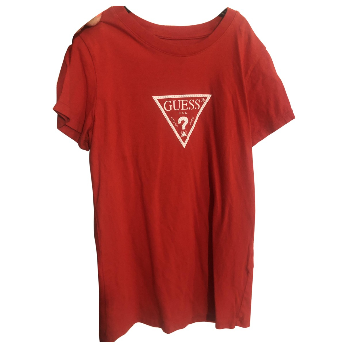 Guess \N Red Cotton  top for Women XS International