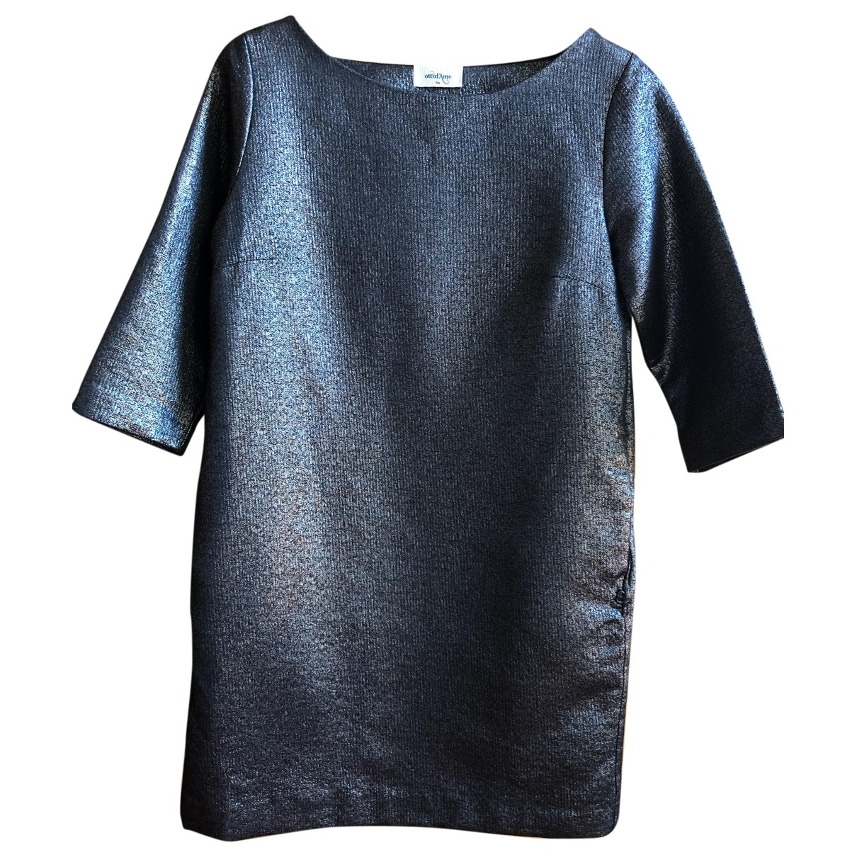 Ottod'ame \N Metallic Cotton dress for Women 40 IT
