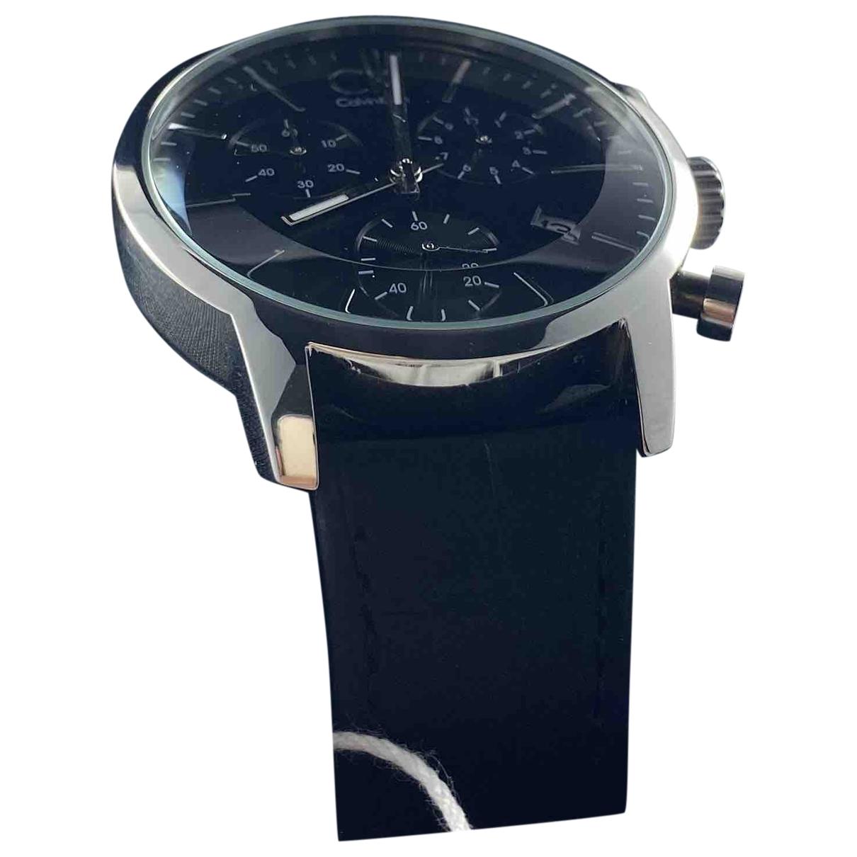 Calvin Klein \N Black Steel watch for Men \N