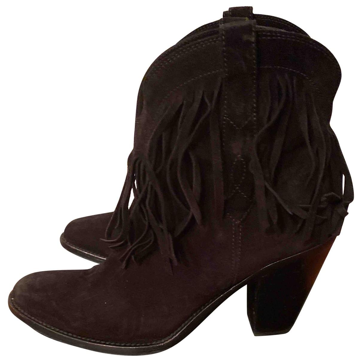 Saint Laurent N Black Suede Ankle boots for Women 38 EU
