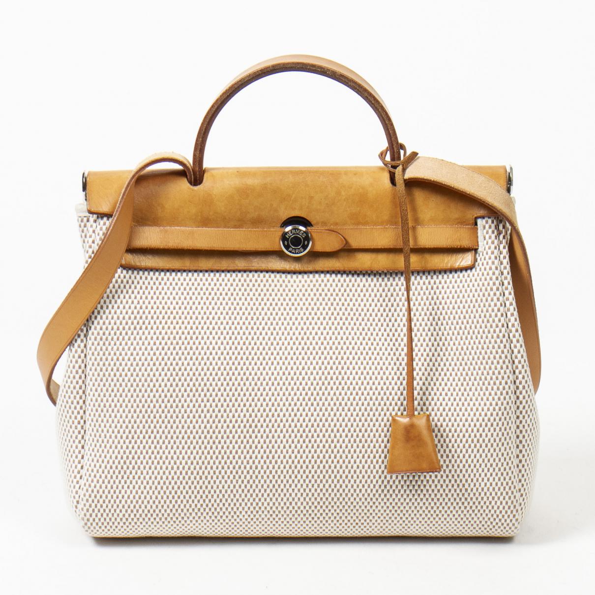 Hermès Herbag Brown Leather handbag for Women \N