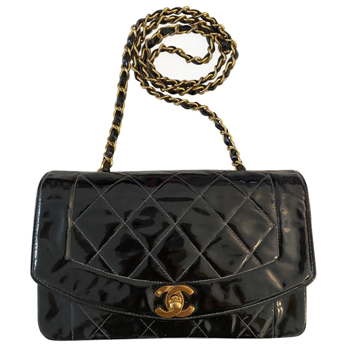 Chanel Diana Black Patent leather handbag for Women N