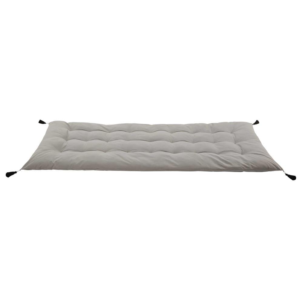 Gaddiposh-Matratze aus Baumwolle, 90x190, grau