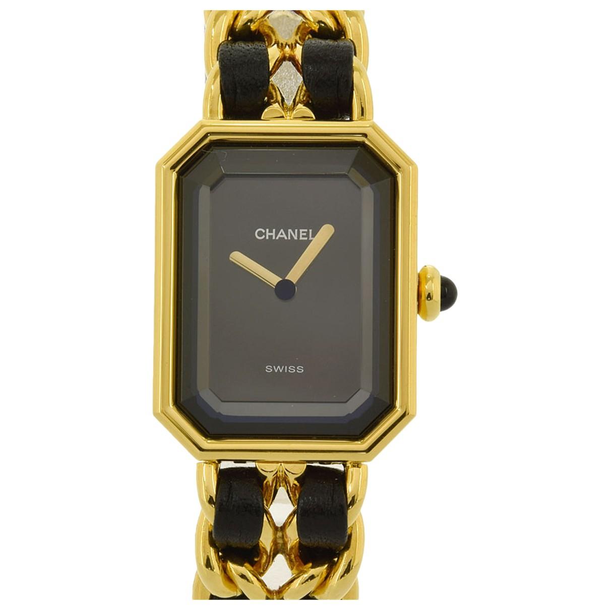 Chanel Premiere Uhr in  Schwarz Stahl