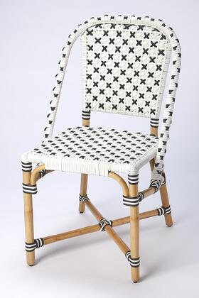 Tenor Collection 5398295 Dining Chair with Transitional Style  Rectangular Shape and Rattan Material in Black