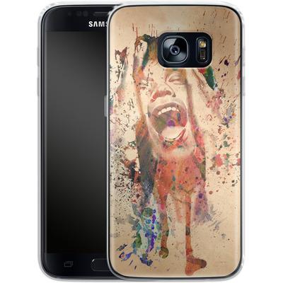 Samsung Galaxy S7 Silikon Handyhuelle - Scream von Mark Ashkenazi