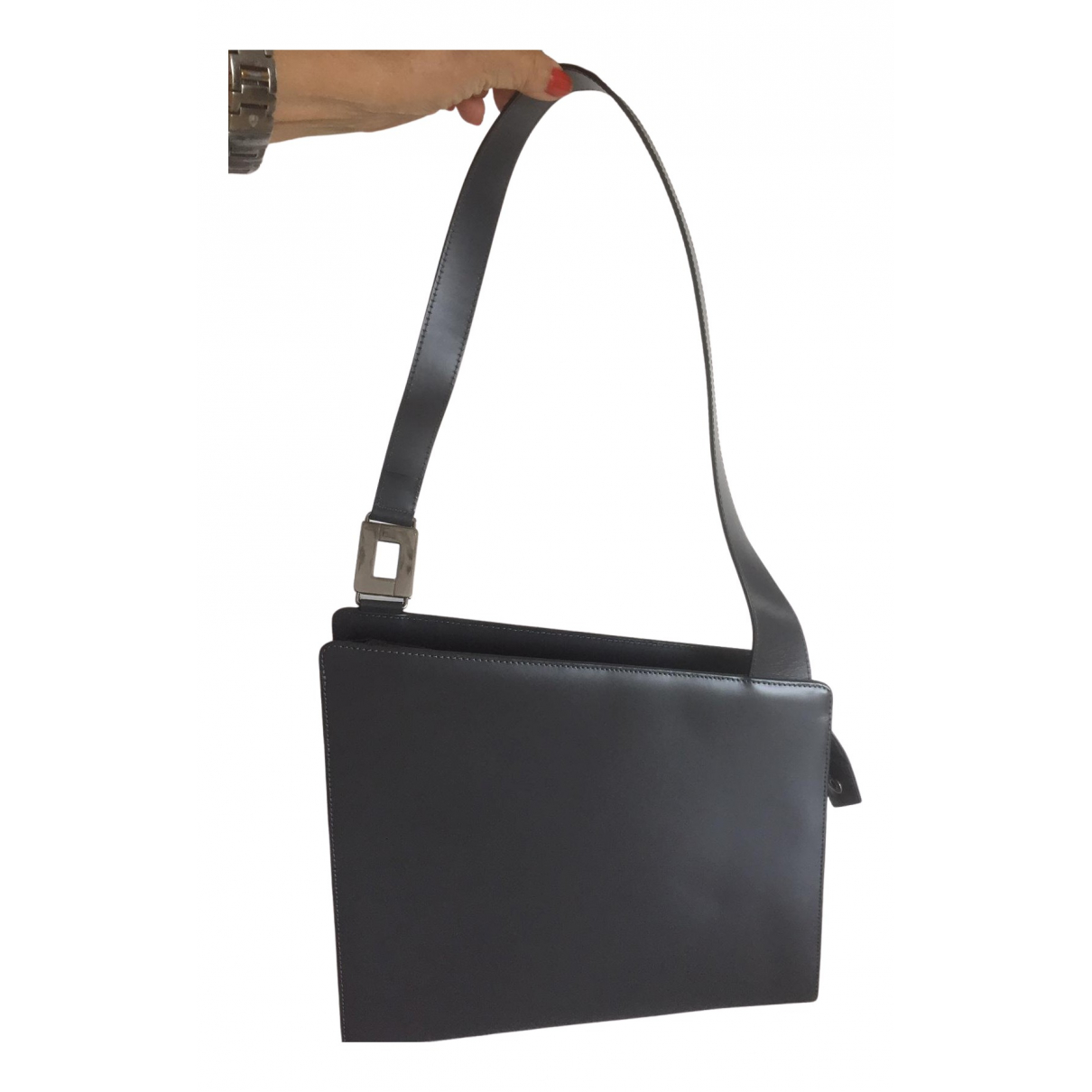 Lancel \N Handtasche in  Grau Leder