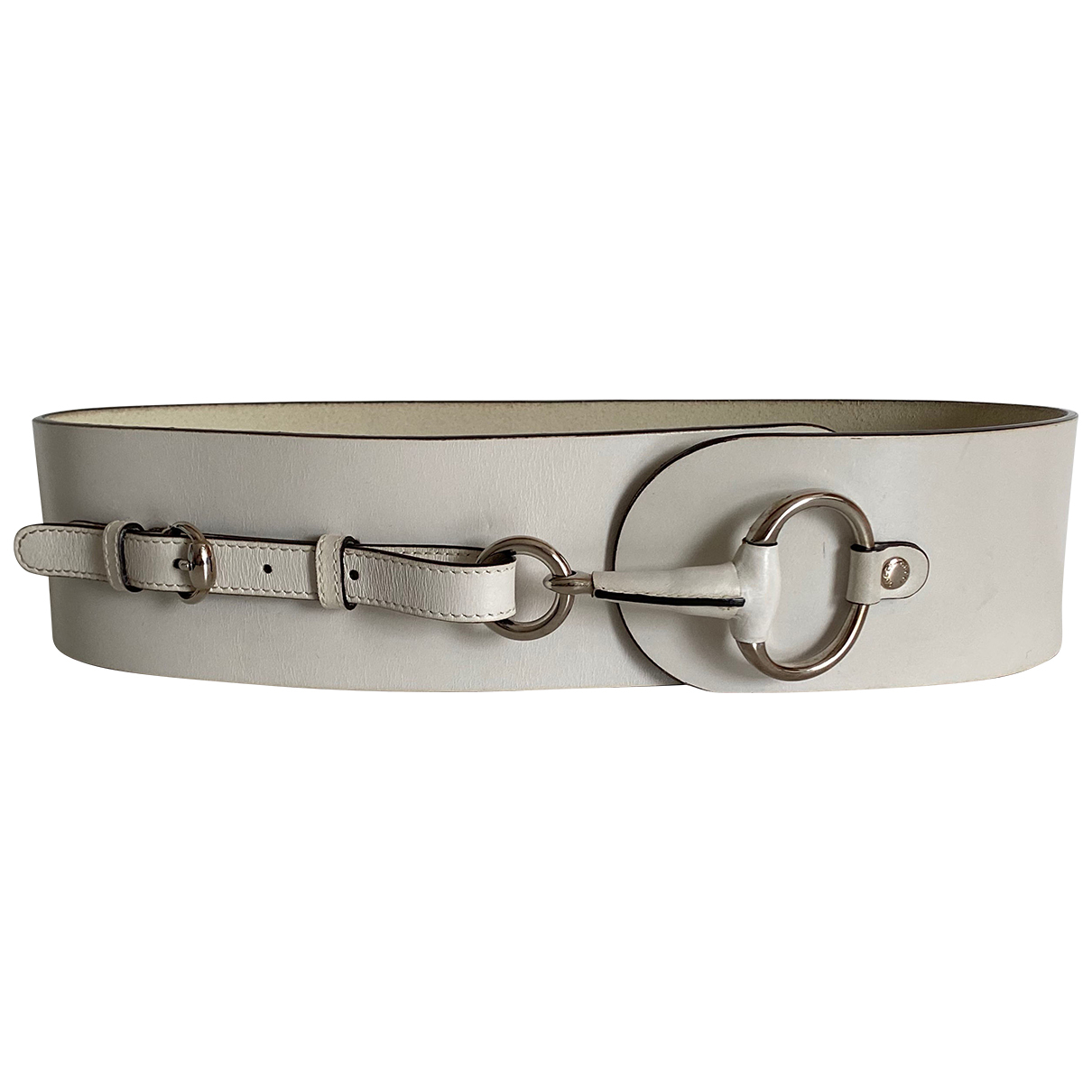 Gucci N White Leather belt for Women 80 cm