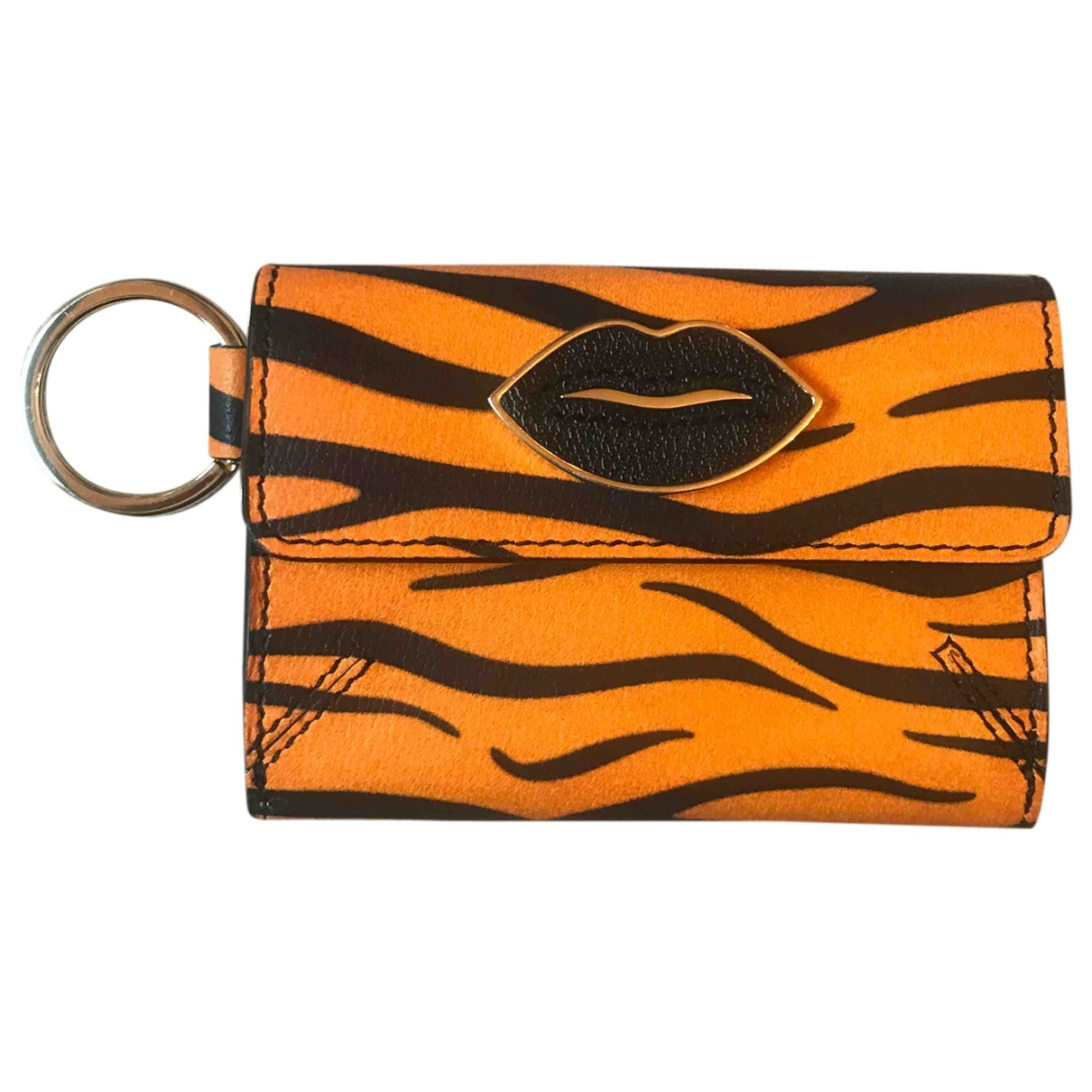Charlotte Olympia \N Orange Leather wallet for Women \N