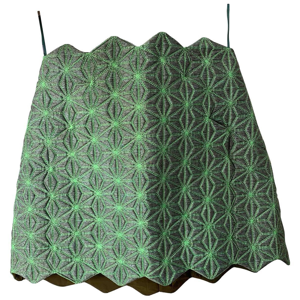 Balenciaga - Jupe   pour femme en laine - vert