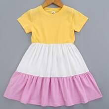 Toddler Girls Cut And Sew Flowy Dress