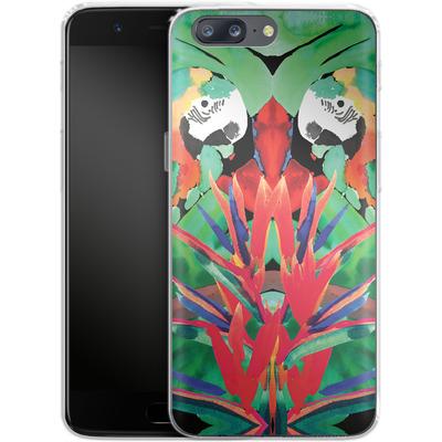 OnePlus 5 Silikon Handyhuelle - Parrot von Amy Sia