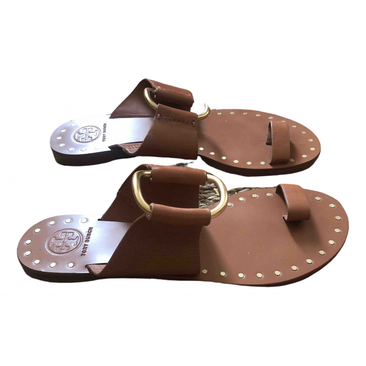 Tory Burch N Beige Leather Sandals for Women 7 US