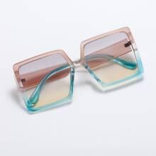 Acrylic Frame Ombre Lens Sunglasses