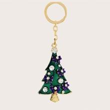 Schluesselbund mit Weihnachtsbaum Dekor