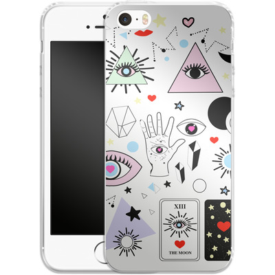 Apple iPhone SE Silikon Handyhuelle - Evil Eye von Mukta Lata Barua
