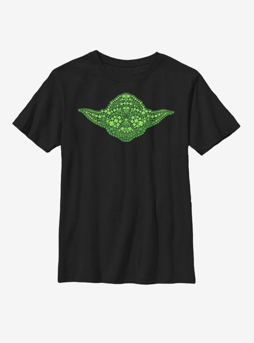 Star Wars Yoda Clovers Youth T-Shirt