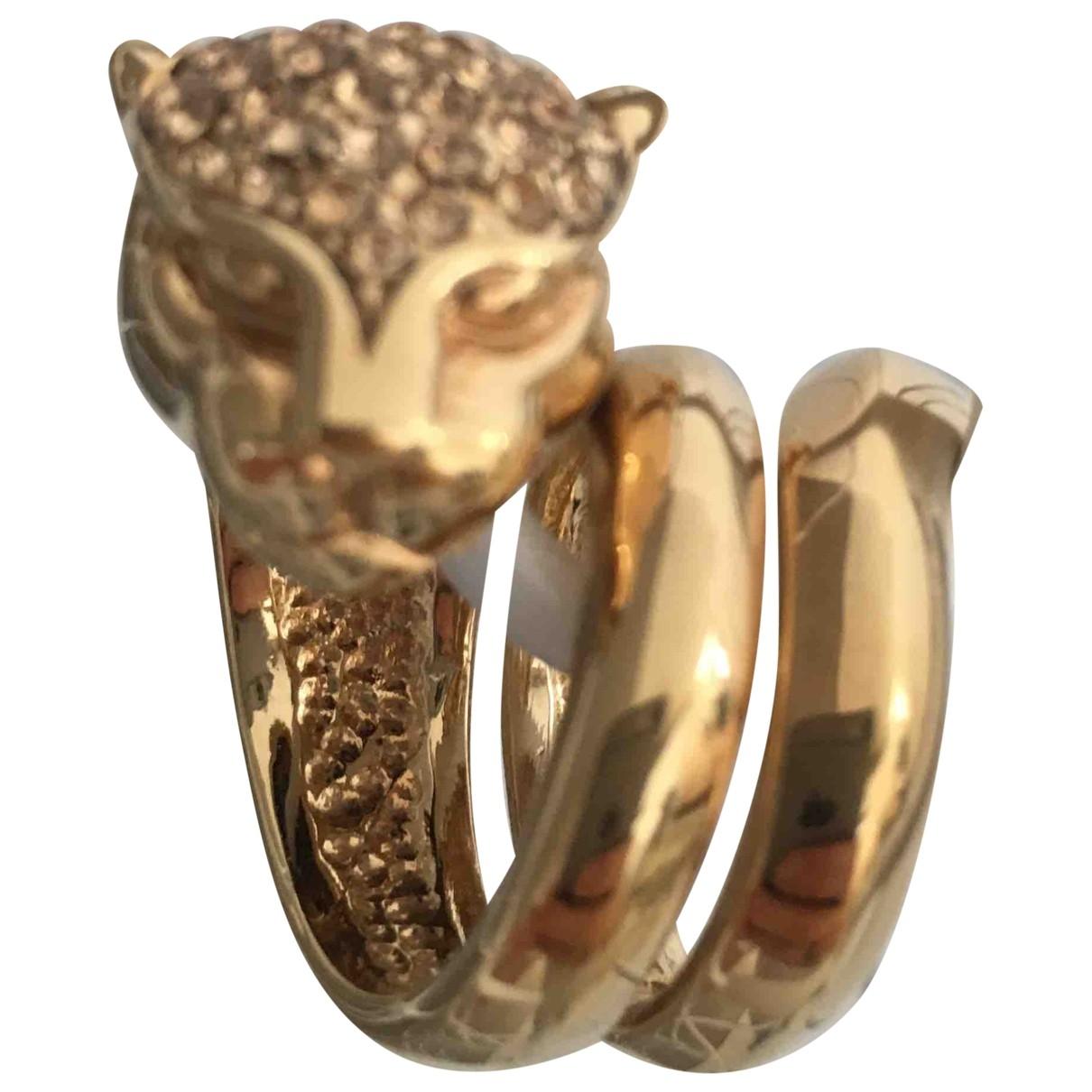 Roberto Cavalli \N Gold Steel ring for Women \N