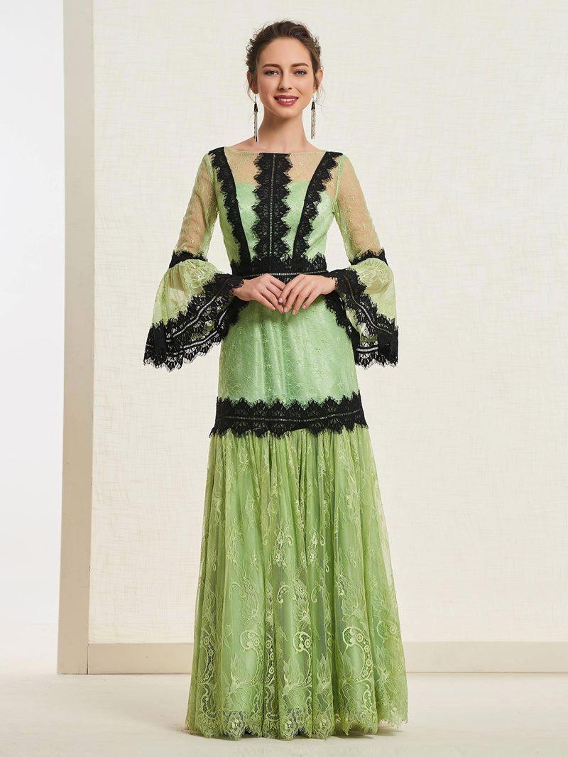 Ericdress Long Sleeves A-Line Bateau Vintage Prom Dress