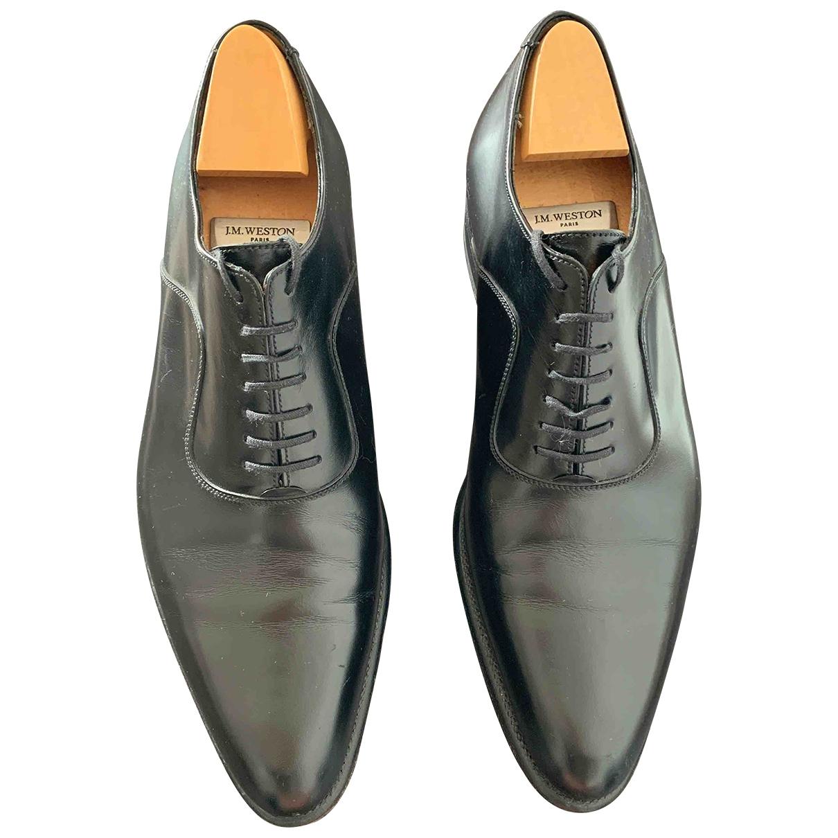 Jm Weston - Derbies   pour homme en cuir - noir