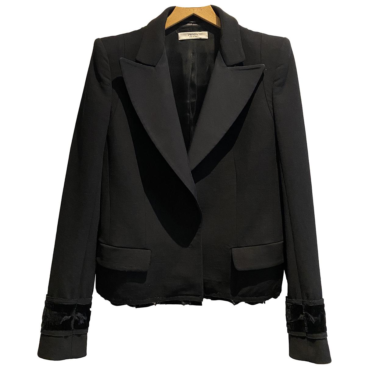 Prada N Black Wool jacket for Women 40 IT