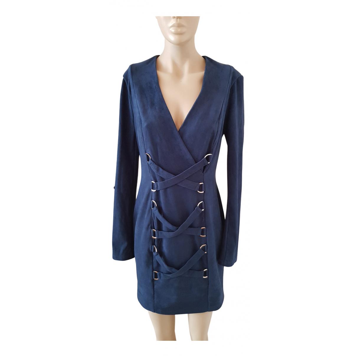 Misha Collection \N Kleid in  Blau Polyester