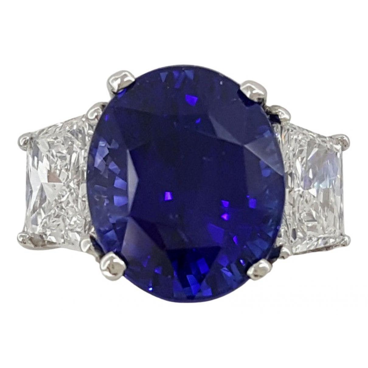 Tiffany & Co - Bague   pour femme en platine - bleu