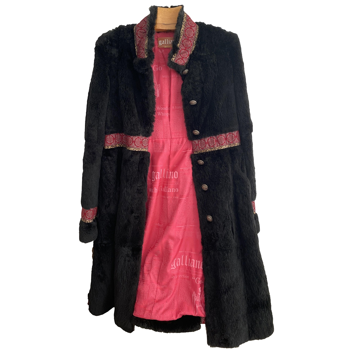 John Galliano \N Black Beaver coat for Women 40 FR