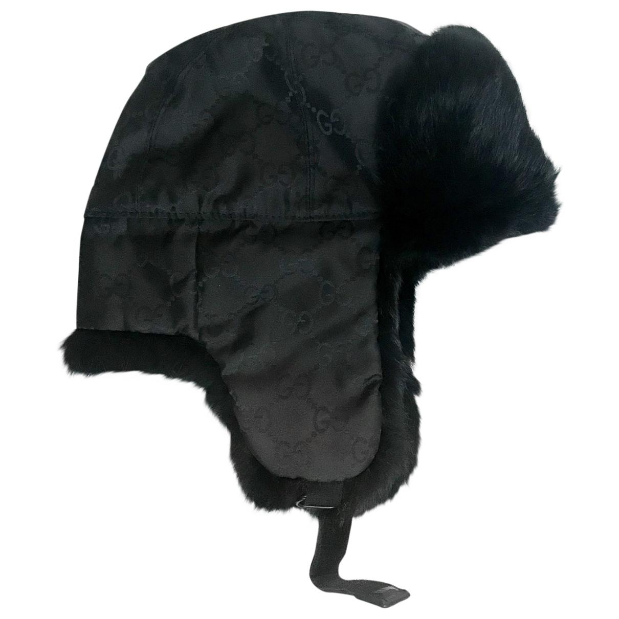 Gucci - Chapeau & Bonnets   pour homme en lapin - noir