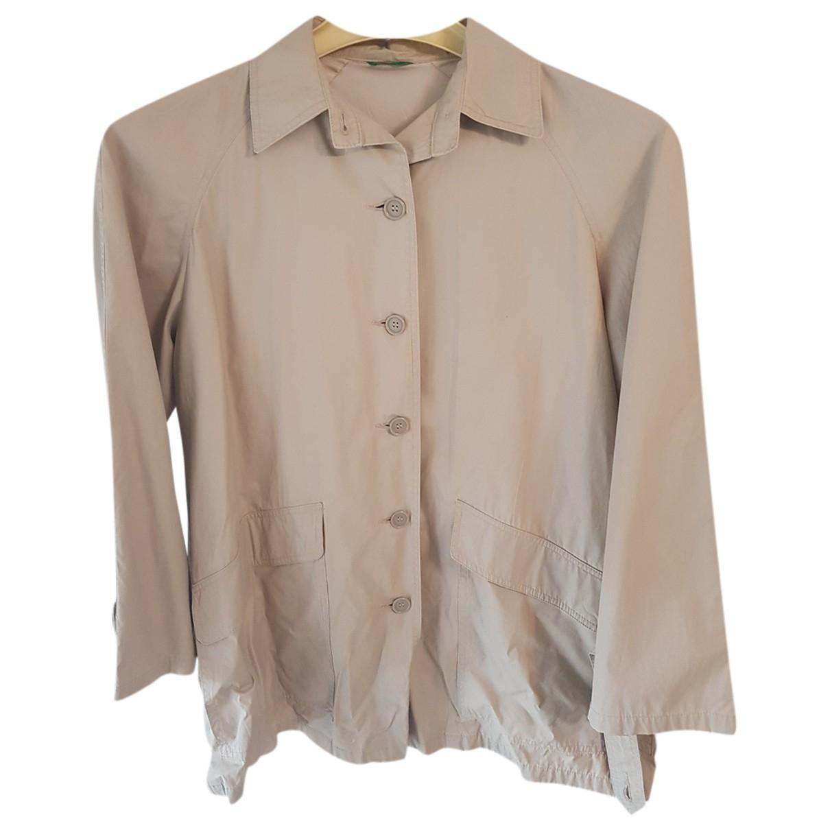Benetton - Veste   pour femme en coton - beige