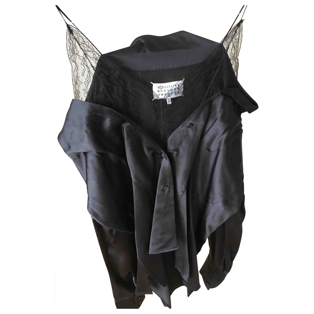 Maison Martin Margiela \N Black Silk  top for Women 44 IT