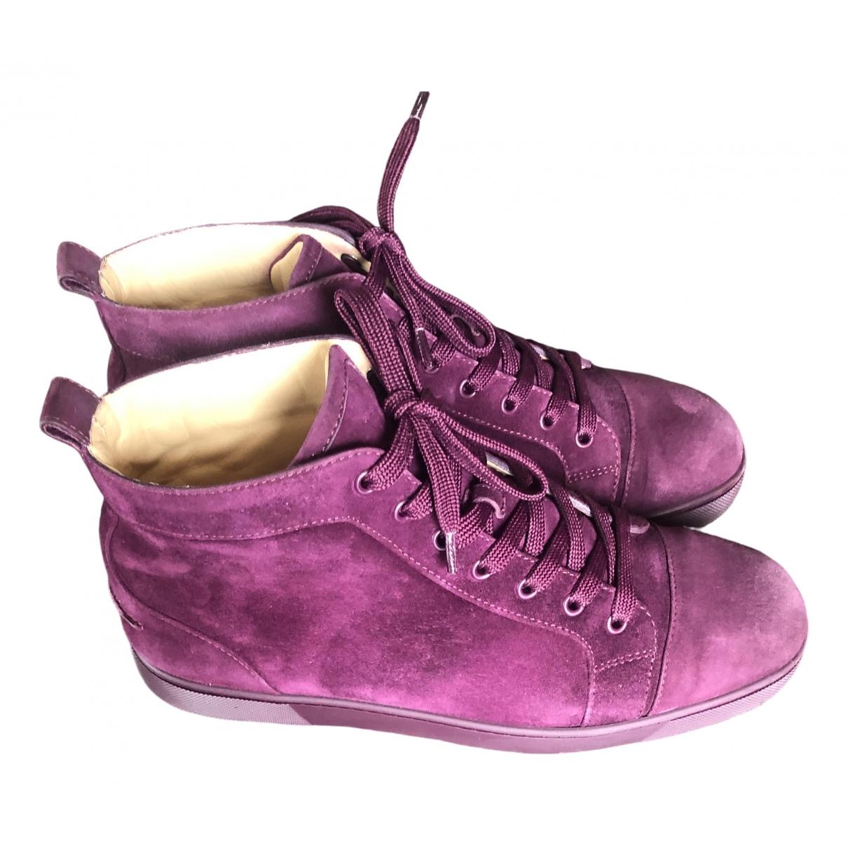 Christian Louboutin - Baskets Louis pour homme en suede - violet