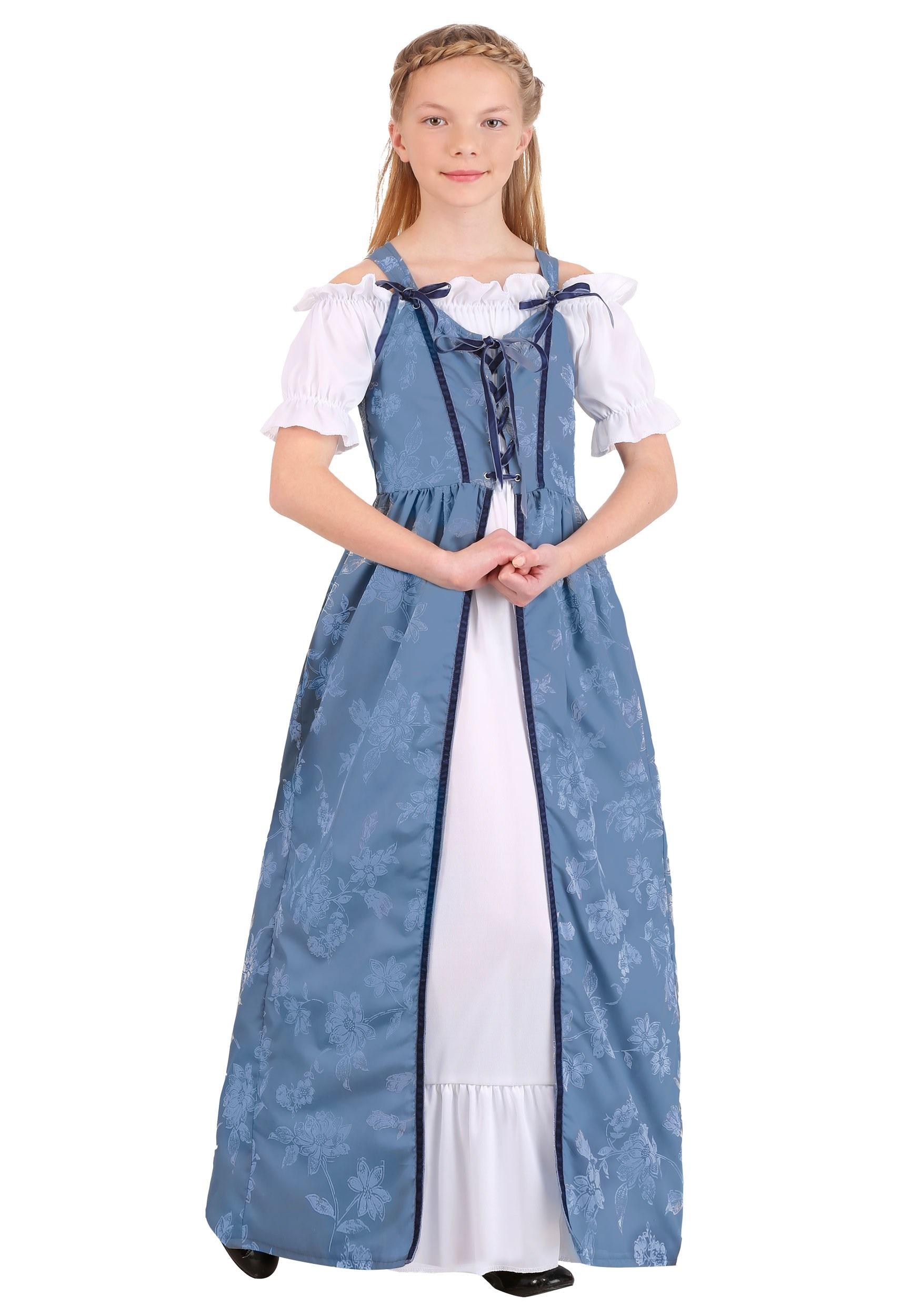 Renaissance Villager Costume for Girls