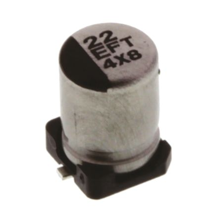 Panasonic 22μF Electrolytic Capacitor 25V dc, Surface Mount - EEEFT1E220AR (10)