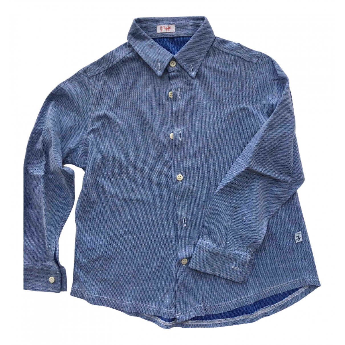 Il Gufo N Blue Cotton  top for Kids 6 years - up to 114cm FR
