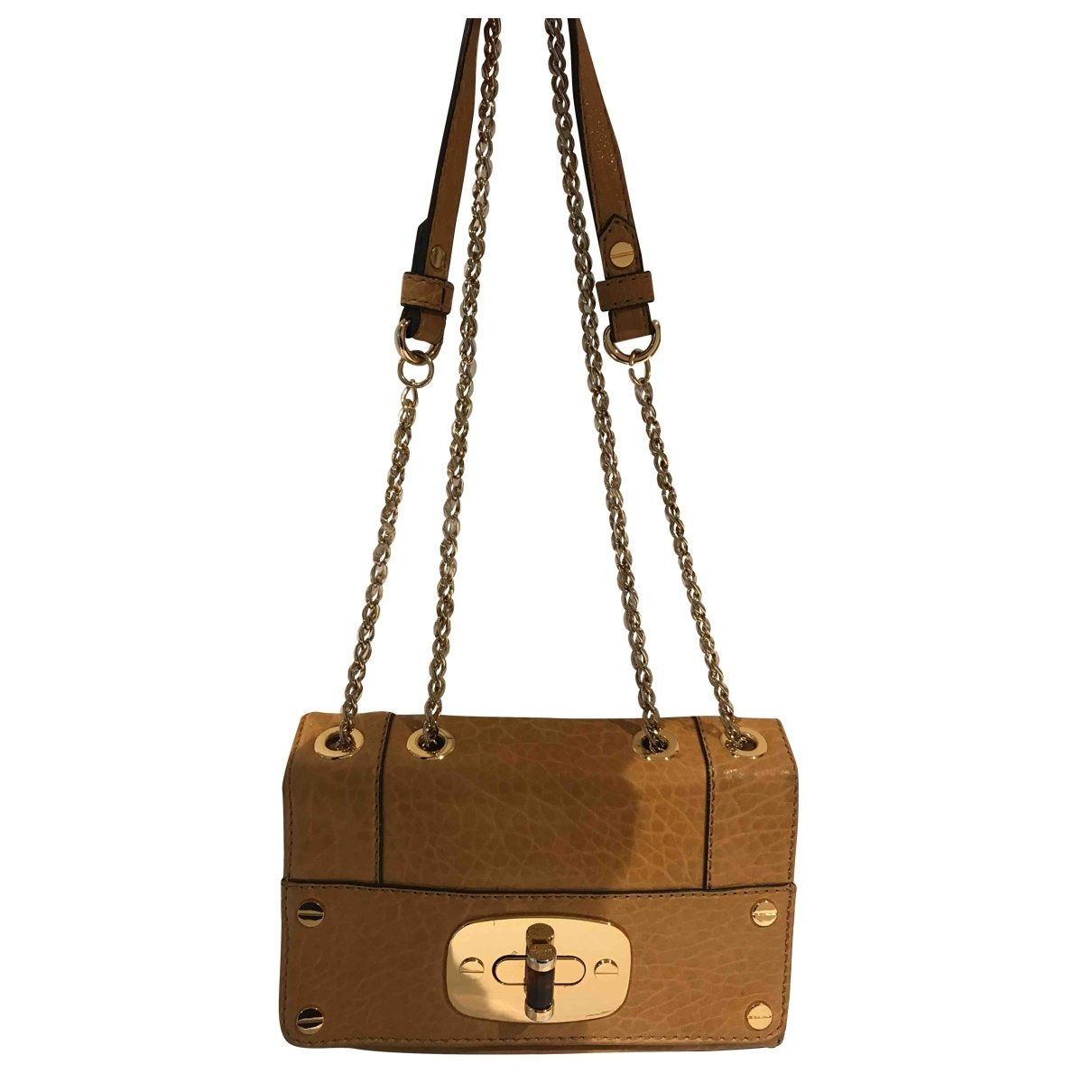 Milly \N Yellow Leather handbag for Women \N