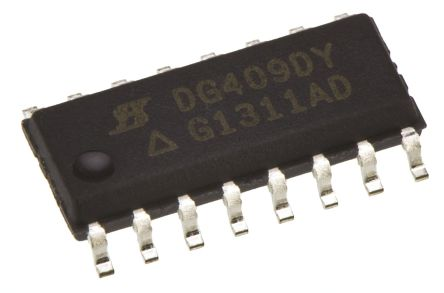 Vishay DG442LEDY-GE3 , Analogue Switch Quad SPST, 3 → 16 V, 16-Pin SOIC (5)