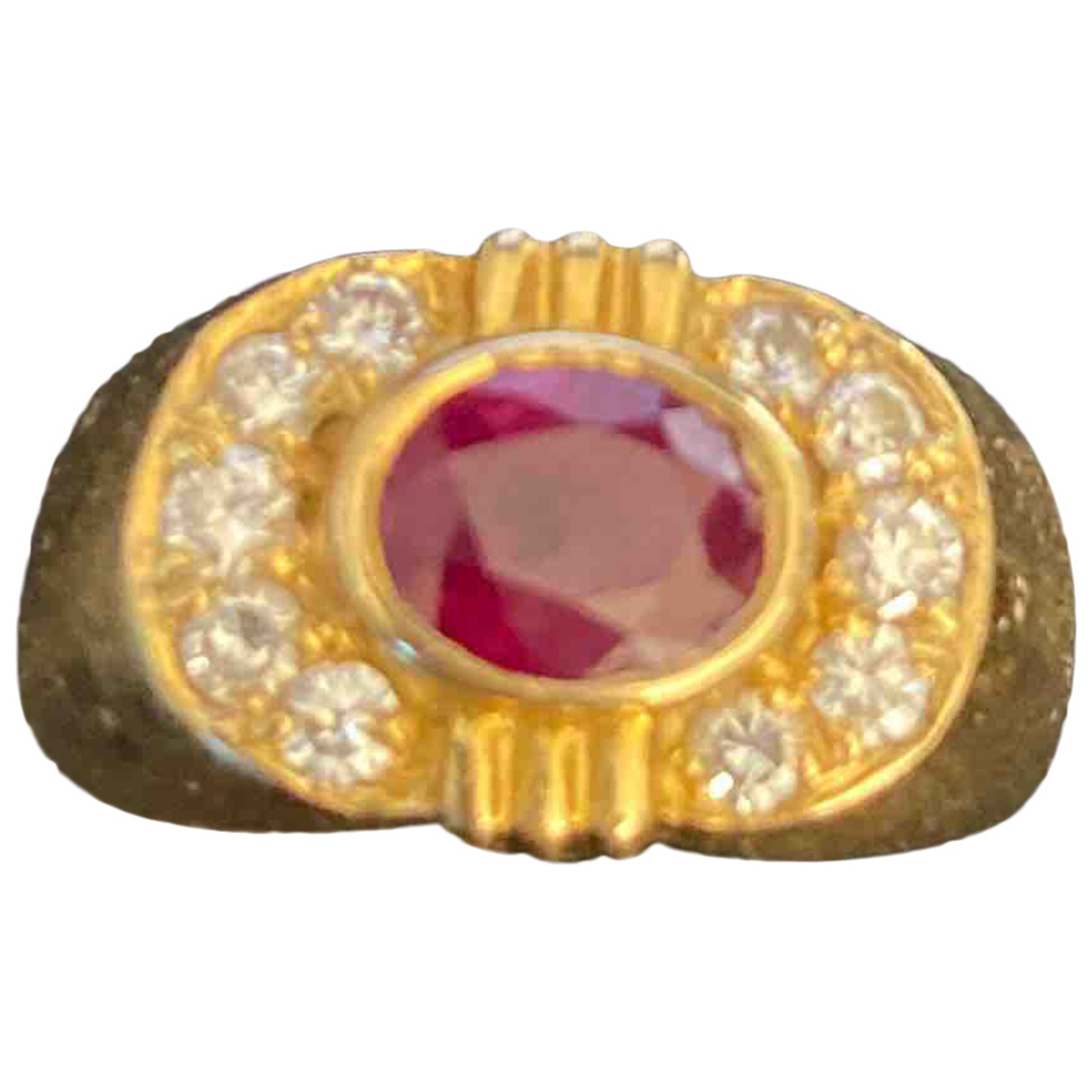 Non Signé / Unsigned \N Red Yellow gold ring for Women 48 MM