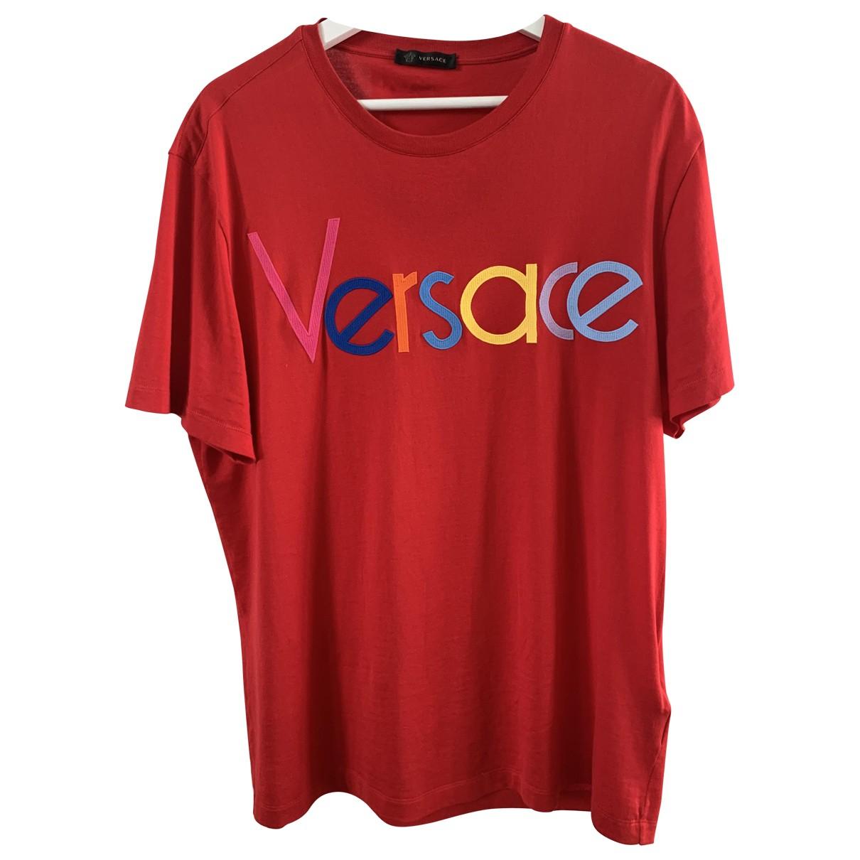 Versace - Tee shirts   pour homme en coton - rouge