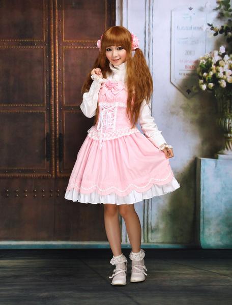 Milanoo Sweet Ruffles Sleeveless Cotton Lolita Dress