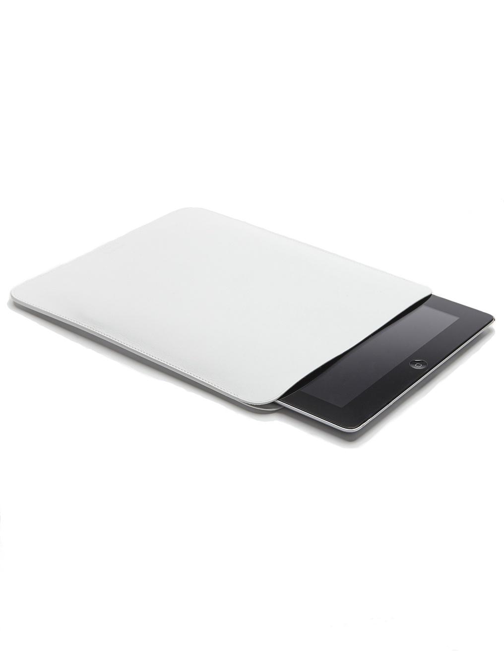 Isaac Reina White Leather iPad Case