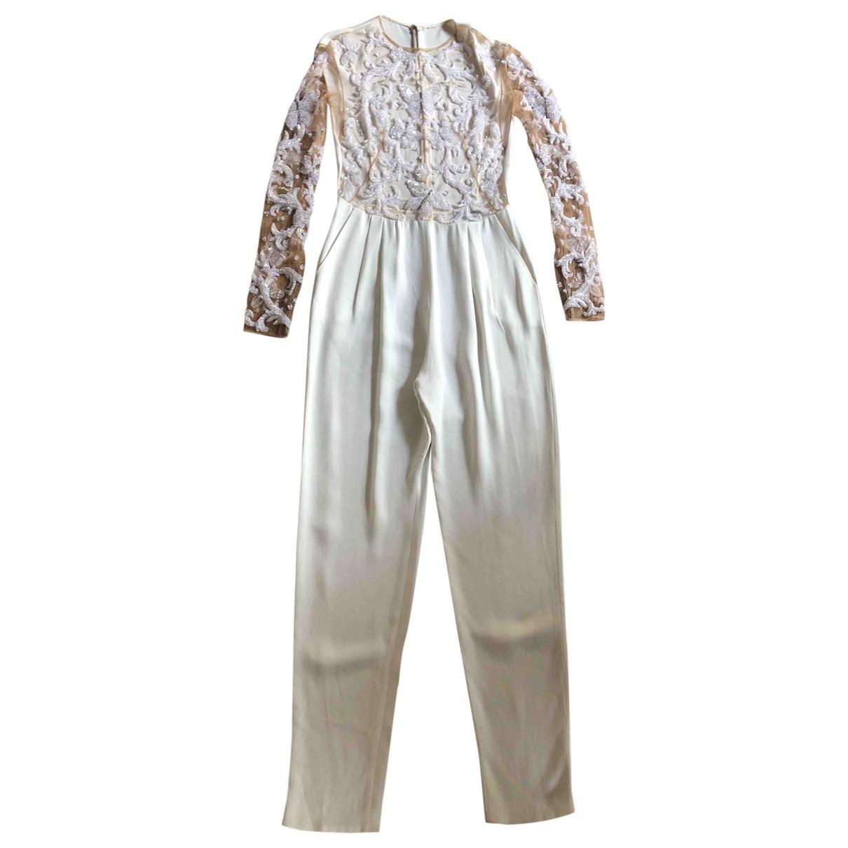 Zuhair Murad - Combinaison   pour femme en soie - blanc