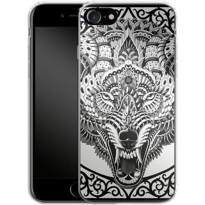Apple iPhone 7 Silikon Handyhuelle - Wolf Head von BIOWORKZ