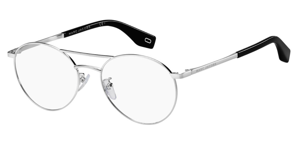 Marc Jacobs MARC 332/F Asian Fit 807 Women's Glasses Silver Size 53 - Free Lenses - HSA/FSA Insurance - Blue Light Block Available